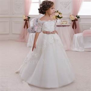 off shoulder organza beaded flower girls dress for With girl dresses for weddings