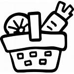 Icon Basket Picnic Vegetables Icons Svg Thought