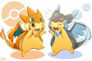 Pikachu Cosplay Méga-Charizard X & Y - Dracaufeu ...