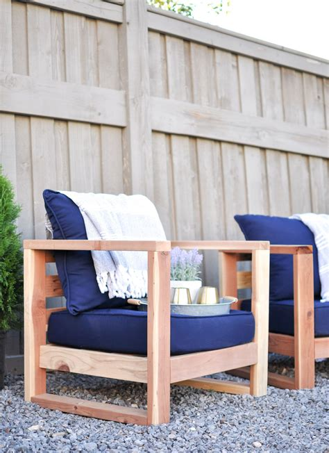 diy modern outdoor chair  plans modern outdoor