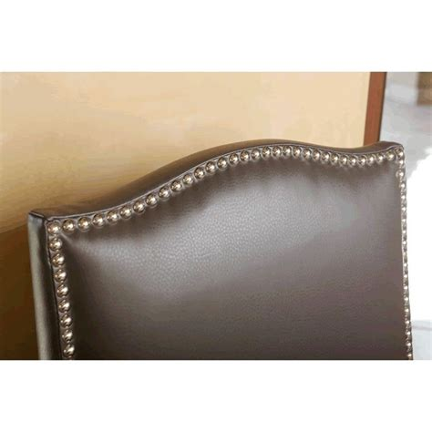 abbyson living royal leather nailhead trim dining chair in