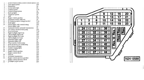 2000 beetle relay panel diagram parts wiring diagram