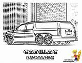 Coloring Escalade Pages Cool Cadillac Limousine Cars Truck Dodge Ice Supercar Printables sketch template