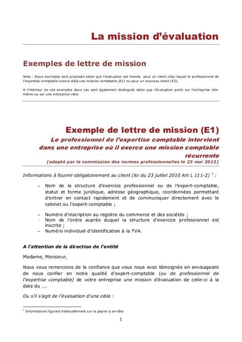 modele lettre de fin de collaboration lettre de mission de l expert comptable