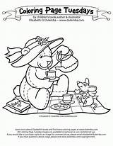 Coloring Tea Teddy Picnic Fancy Nancy Drawing Bears Boston Bear Colouring Sheets Adult Birthday Template Theme Dulemba Adults Sketch Ruxpin sketch template