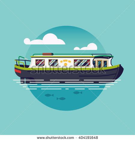 Cartoon Canal Boats by Clip Art Narrowboat Cliparts