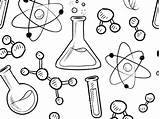 Science Beaker Drawing Coloring Pages sketch template