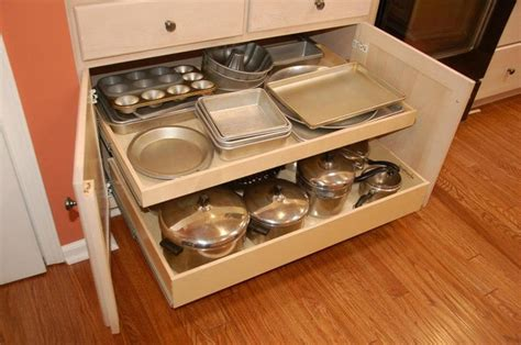 pull out inserts for kitchen cabinets pull out shelves and a center stile removal traditional