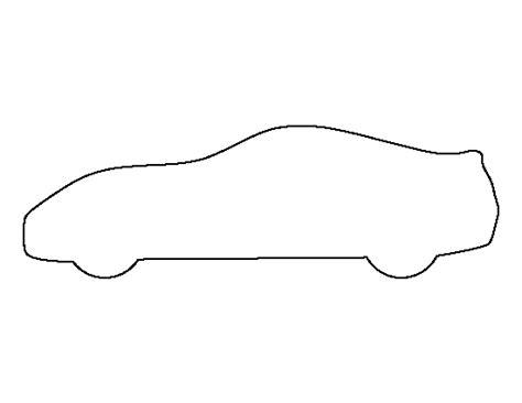 printable sports car template