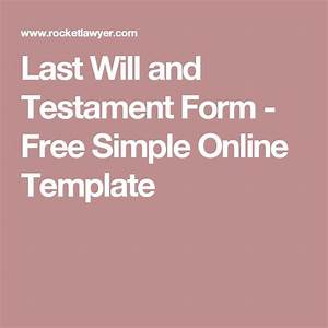 17 best ideas about will and testament on pinterest mr With easy last will and testament free template