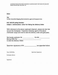 7 AUTHORIZATION LETTER FROM CONSIGNEE CLEARING AGENT FOR TAKING TH…