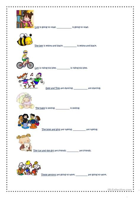 personal pronouns  images english esl worksheets