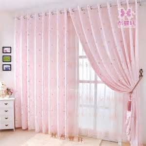 prevailing jacquard soft pink curtains for girls bedroom
