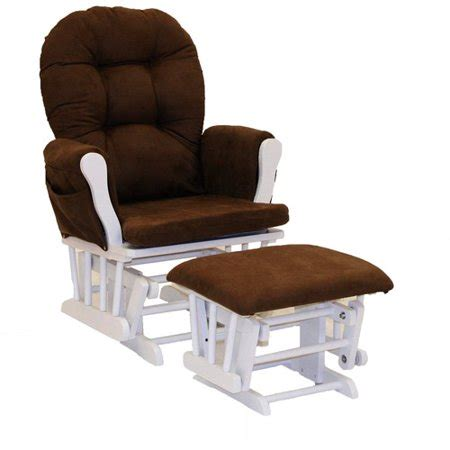 Chocolate Glider And Ottoman by Storkcraft Hoop Glider And Ottoman White And Chocolate