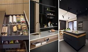 Modern kitchens 2018 the best trends of design and for Kitchen cabinet trends 2018 combined with instagram wall art