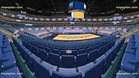smoothie king center arena view  section  row