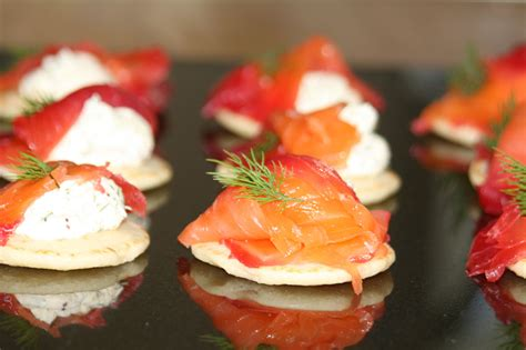 salmon canapes salmon canapes recipe dishmaps