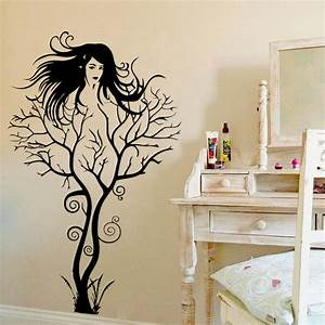 Sexy Girl Tree Wall Sticker DIY Hot Woman Home Decorations ...