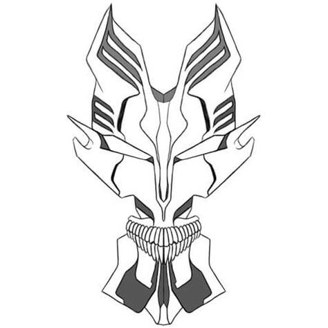 vizard zangon mask  bleach  printable papercraft