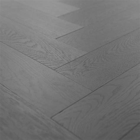 Engineered Grigio Grey Herringbone Hardwood Flooring