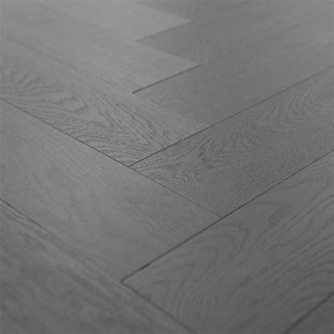 Engineered Grigio Grey Herringbone Hardwood Flooring
