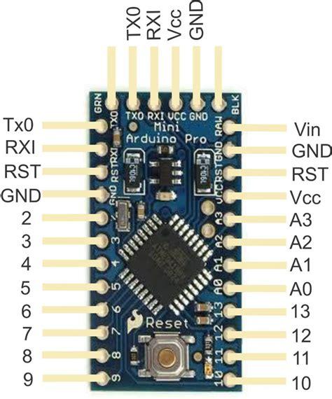 arduino pro mini pinout  pinout  silkscreened