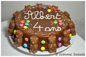 Gateau Anniversaire Garcon : g teau d 39 anniversaire pour enfant au chocolat et aux bonbons ~ Melissatoandfro.com Idées de Décoration