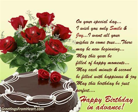 happy birthday advance