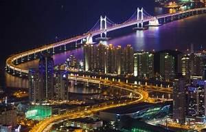 Wallpaper backlight, bridge, lighting, home, Gwangan, The ...