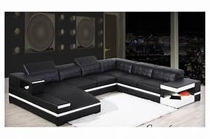 canape d39angle panoramique avec meridienne en cuir italien With tapis chambre enfant avec grand canapé d angle cuir