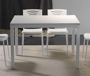 Tv 80 Cm Blanche : table repas extensible majestic 130 x 80 cm blanche ~ Teatrodelosmanantiales.com Idées de Décoration