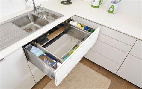 kitchen sink pull out drawer clever kitchen storage ideas kitchen connection brisbane 8528