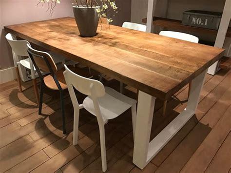 table cuisine bois blanc les tables
