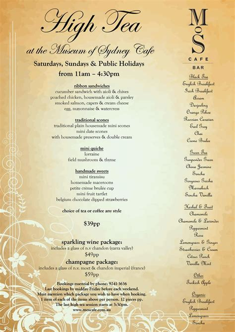 tea menu best 25 high tea menu ideas on pinterest afternoon tea menu ideas tea party menu and english
