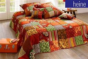 Tagesdecke 220x240 Grün : 1 st tagesdecke 210 x 280 bunt terra gr n patchwork wohndecke bett berwurf neu ebay ~ Indierocktalk.com Haus und Dekorationen