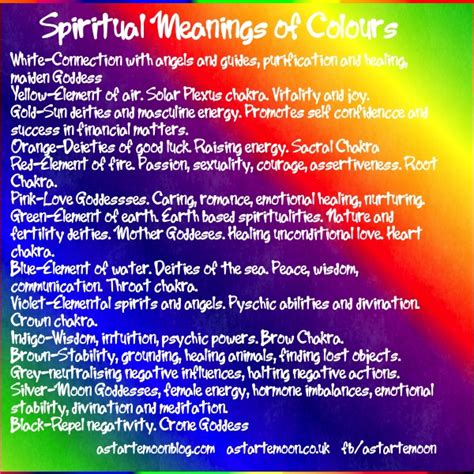 spiritual meaning of colors astarte moon inspirations a closer to nature s