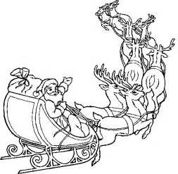 HD wallpapers coloring pages santa and reindeer sleigh