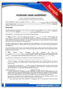 Printable Standard Rental Lease Agreement