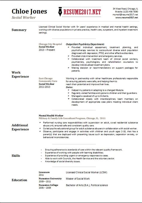 how to write a social work resume 28 images social social worker resume exles resume and cover letter