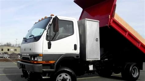 mitsubishi truck 2004 2004 mitsubishi fuso diesel 4wd 4x4 11ft mason dump truck