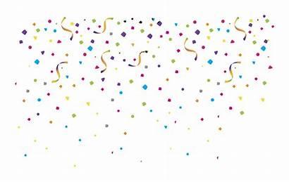 Confetti Transparent Clipart Translucent Celebration Colorful Clip
