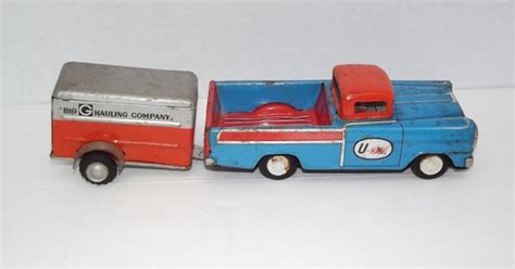 Old Uhaul Tin Pickup Truck Trailer Toy U-haul Private