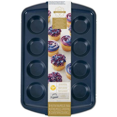 muffin diamond pan cup cupcake infused stick non wilton navy