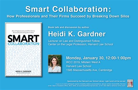 book talk heidi gardners smart collaboration