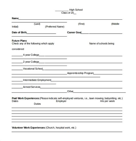 common core sheet templates  word