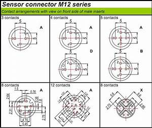M12 Connector Compatible Binder Pcb Mount Right Angle M12