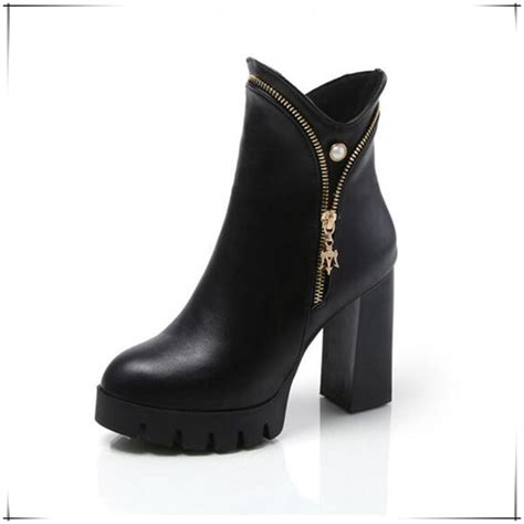 heeled motorcycle boots mujer highquality new women fashion booties high
