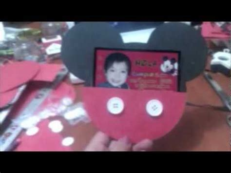 Invitacion Sobre de Mickey YouTube