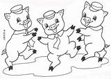 Coloring Fifer Fiddler Edmund Pages Pigs Three Wolf Bad Printable Hellokids Drawings Disney sketch template