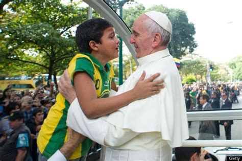 Pope Cries With Nathan De Brito, The Little Boy Who